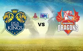 Lyca Kovai Kings VS Dindigul Dragons 31/07/06:45PM
