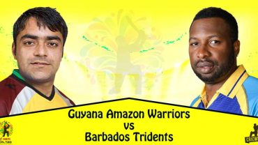 Barbados Tridents VS Guyana Amazon Warriors 29 08 17 03:00AM