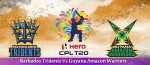 Guyana Amazon VS  Warriors Barbados Tridents