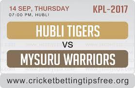 HUBLI TIGERS VS MYSURU WARRIORS 14 09 17 06:40PM