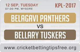 Belagavi Panthers vs Bellary Tuskers 12 09 17 06:45pm